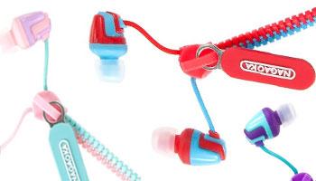 Nagaoka Zippered Earphones