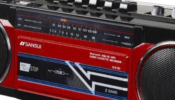 Bluetoothも使えるアナログとデジタルの合体ラジカセ