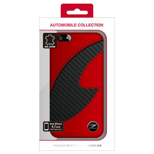 d016fc0981 NISSAN iPhone6s/iPhone6 (4.7インチ) 公式ライセンス品 FAIRLADY Z CARBON LEATHER HARD  CASE RED NZ-P47S1RD レッド グッズ - Neowing