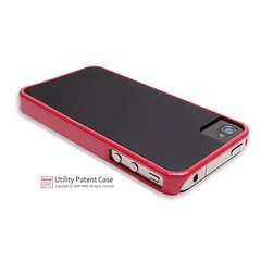 icover iPhone4/4S用ケース DUES レッド・ブラック AS-IP4SDU-RDBK