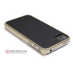 icover iPhone4/4S用ケース DUES ゴールド・ブラック AS-IP4SDU-GDBK