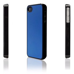 icover iPhone4/4S用ケース INMOLD CARD MIRROR ブルーAS-IP4CM-BKBL
