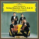 ショスタコーヴィチ  弦楽四重奏第3番、第8番、第11番
