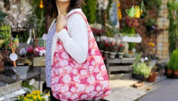 Eco-Friendly Reusable Bags: Japanese Pattern, Wide Gusset and Expandable Types