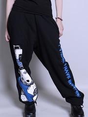 [APPAREL]/セックスポットリベンジ/INSOMNIA スウェットパンツ 黒x白+青 (M) ゴスロリ・パンク/SEX POT ReVeNGe